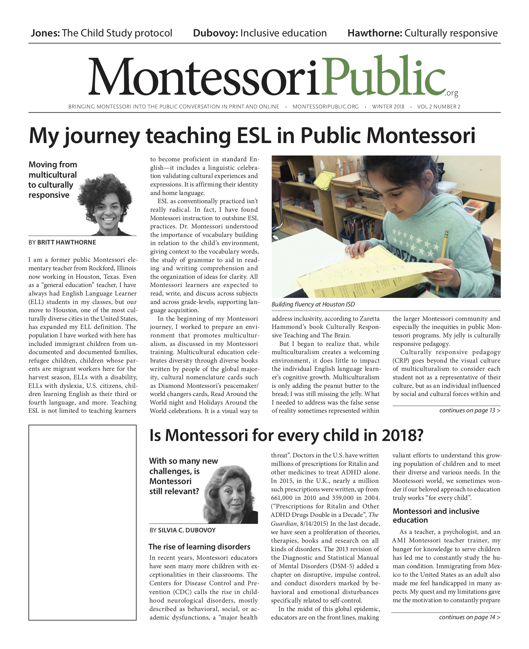 MontessoriPublic—Print Edition Volume 2 #2: SPED and ELL