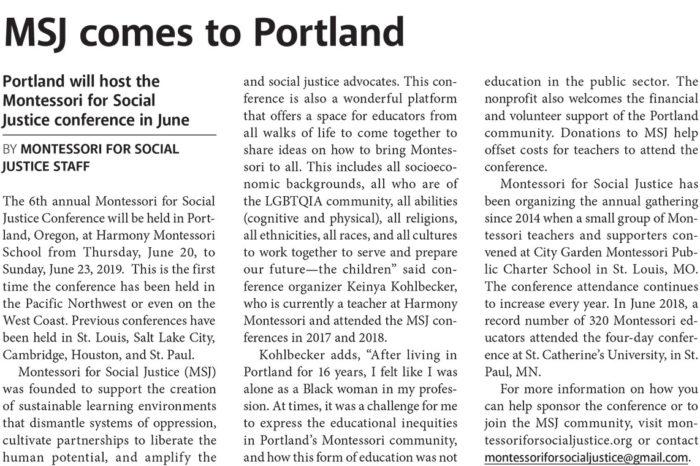 MSJ Comes to Portland