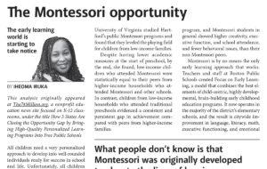 The Montessori Opportunity