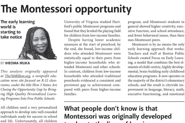 The Montessori Opportunity