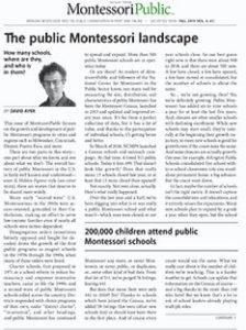 The public Montessori landscape